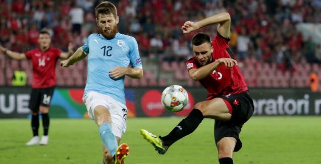 שרן ייני במשחק מול אלבניה (רויטרס)