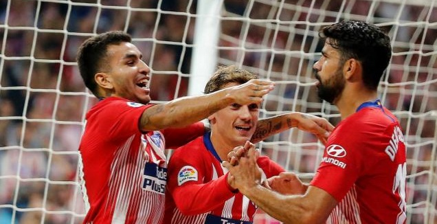 שחקני אתלטיקו חוגגים (La Liga)