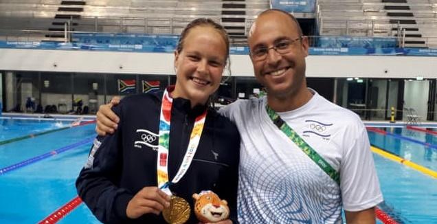 גורבנקו ואהוד סגל (באדיבות הוועד האולימפי בישראל)