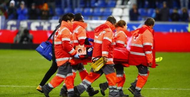 שימו נבארו מורד על אלונקה (La Liga)