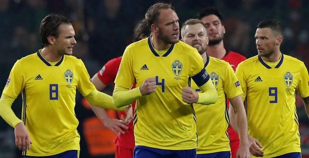 שחקני שוודיה. רוצים להמשיך לחגוג (רויטרס)