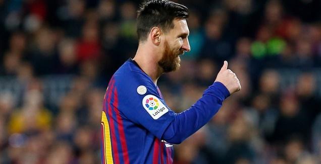 ליאו מסי במהלך המשחק (La Liga)