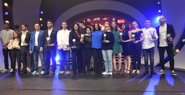 הזוכים בטקס נבחרי הספורט בסימן 70 שנה לספורט הישראלי (חורחה נובומינסקי)