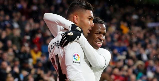 ויניסיוס ג'וניור וקאסמירו חוגגים (La Liga)