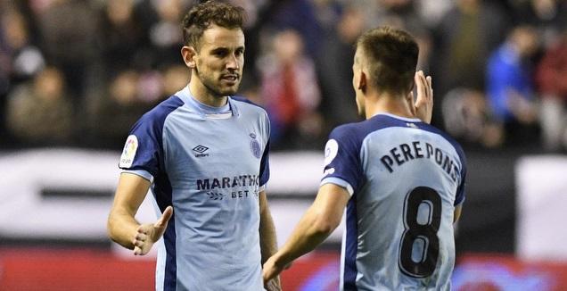 פרה פונס וכריסטיאן סטואני חוגגים (La Liga)