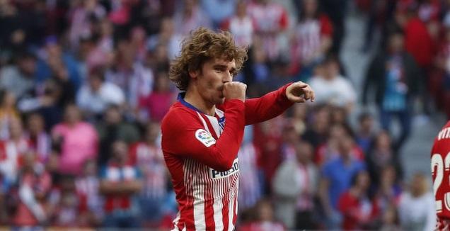 אנטואן גריזמן מחויך. מטריד את מלקום (La Liga)