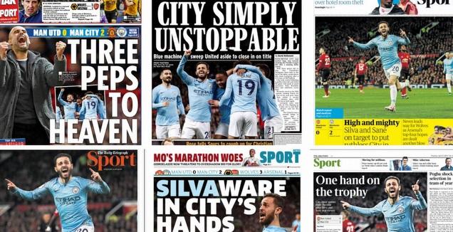 עיתוני אנגליה (צילום מסך)