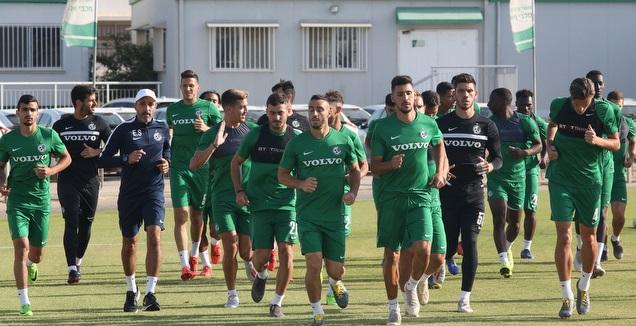 שחקני מכבי חיפה באימון (שחר גרוס)