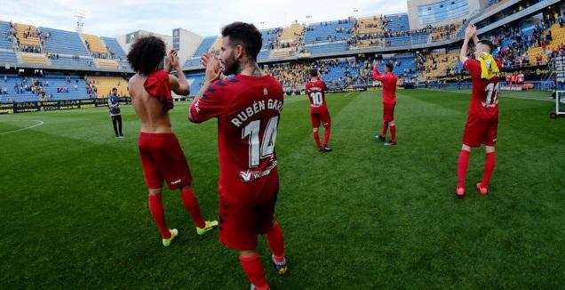שחקני אוסאסונה חוגגים (La Liga)