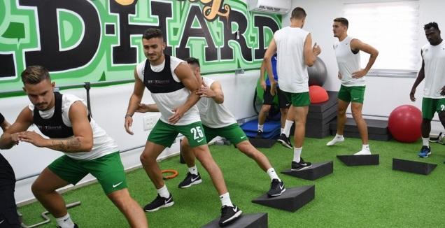 שחקני מכבי חיפה באימון (האתר הרשמי של מכבי חיפה)