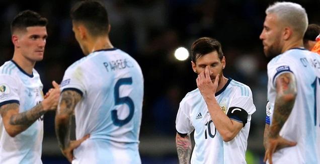 מסי ושחקני ארגנטינה, הפנים אומרות הכל (רויטרס)