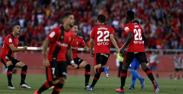 אנטה בודימיר ושחקני מיורקה חוגגים (La Liga)