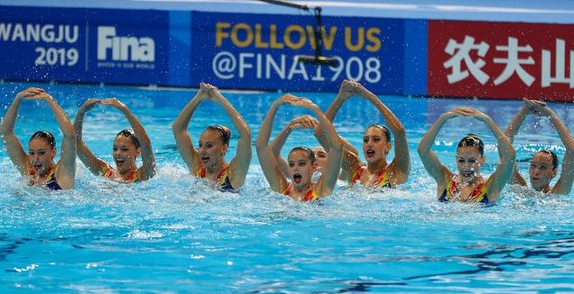 נבחרת השחייה האומנותית (סימונה קסטרווילארי, באדיבות איגוד השחייה בישראל)