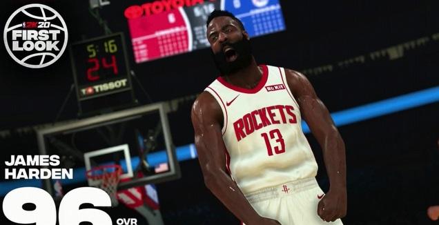ג'יימס הארדן ב-NBA 2K20 (מערכת ONE)