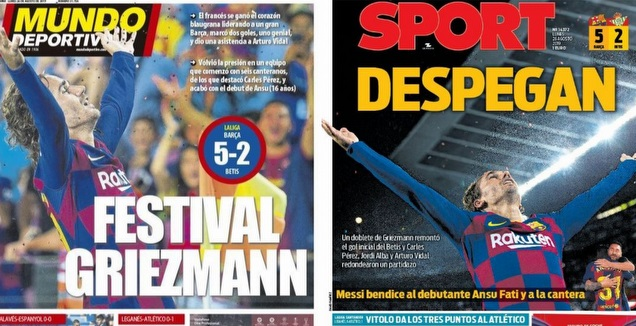 כותרות העיתונים בברצלונה (מערכת ONE)