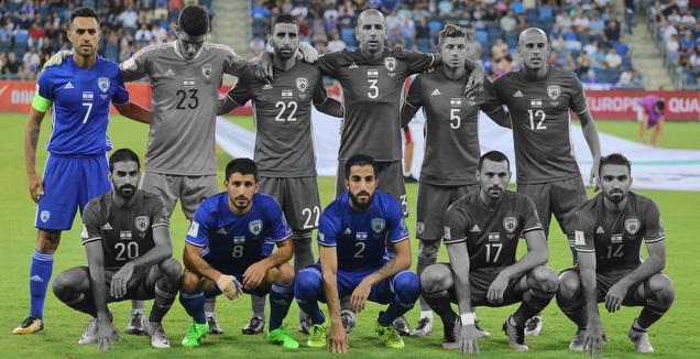 הרכב נבחרת ישראל מול מקדוניה ב-2017 (עמית מצפה)