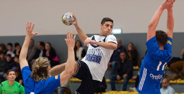 יונתן דיין במדי נבחרת ישראל (צילום: מאריו מוריירה, איגוד הכדוריד)