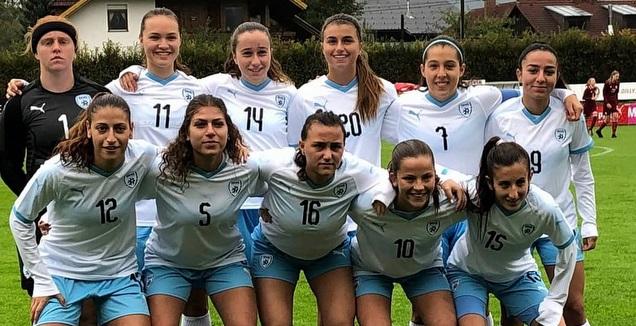 נבחרת הנערות בניצחון על לטביה (ההתאחדות לכדורגל)