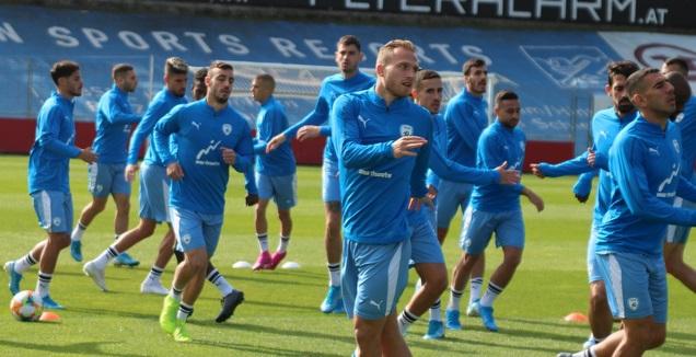 שחקני נבחרת ישראל באימון בווינה (ההתאחדות לכדורגל)
