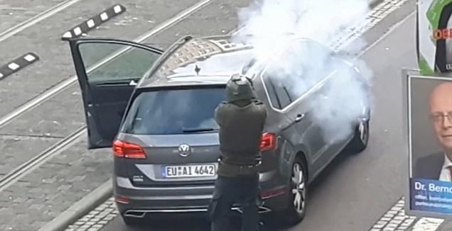 תיעוד של מבצע הירי בגרמניה (רויטרס)