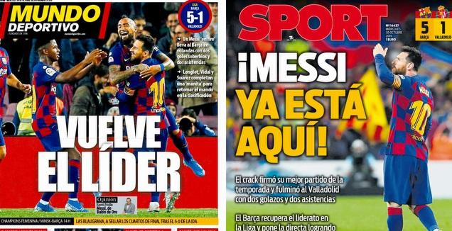 שערי העיתונים בברצלונה (צילומי מסך)