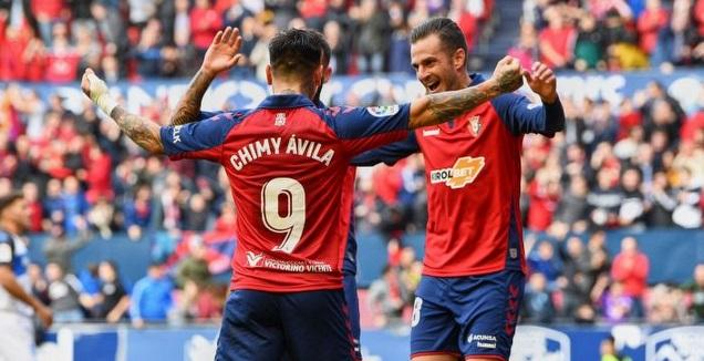 צ'ימי אווילה חוגג (La Liga)
