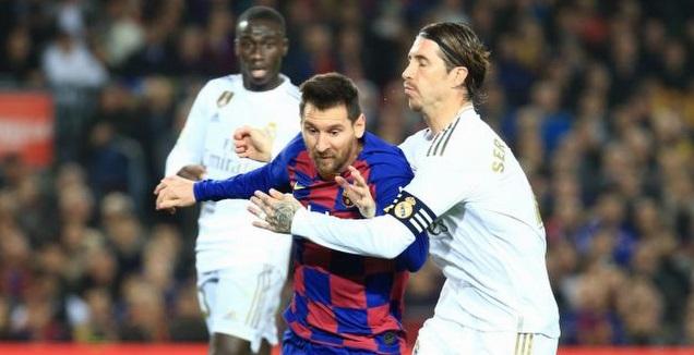 סרחיו ראמוס תופס את ליאו מסי (La Liga)