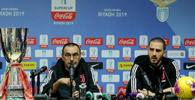לאונרדו בונוצ'י עם מאוריציו סארי (רויטרס)