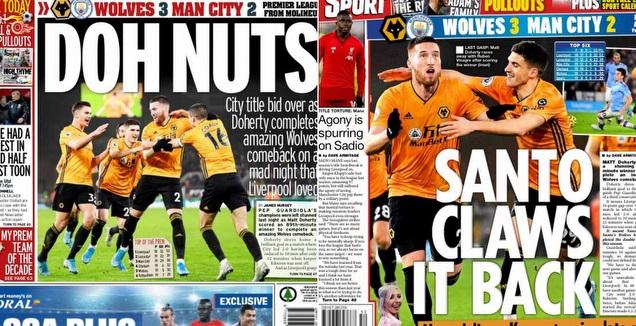 כותרות העיתונים באנגליה (טוויטר)