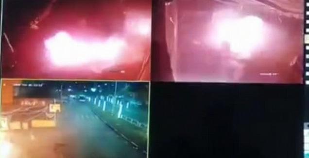 ההצתה בריינה דרך מצלמות האבטחה (מערכת ONE)