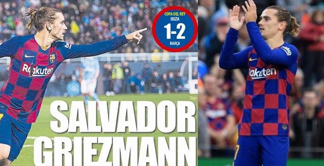 גריזמן. הציל את הקטאלונים (La Liga, צילום מסך)