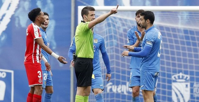 כריסטובל מורחק ע&qout;י השופט. אירוע ביזארי (La Liga)