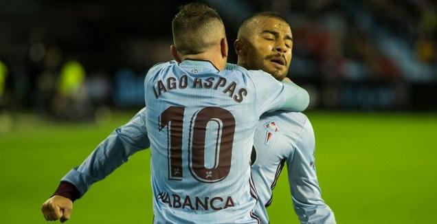 יאגו אספאס וראפיניה חוגגים (La Liga)