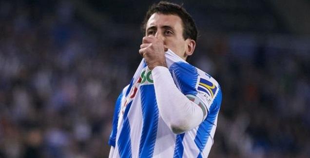 מיקל אויארסבאל חוגג (La Liga)
