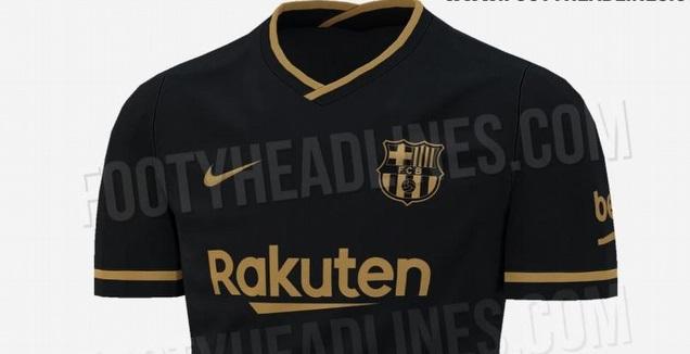 חולצת החוץ של ברצלונה לעונת 2020/21 (צילום מסך מ-Footy Headlines)