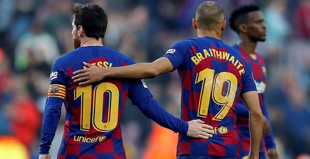 מרטין בריית'ווייט עם ליאו מסי (La Liga)