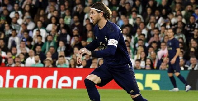 סרחיו ראמוס עם הכדור (La Liga)