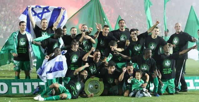 מכבי חיפה חוגגת אליפות (עמית מצפה)