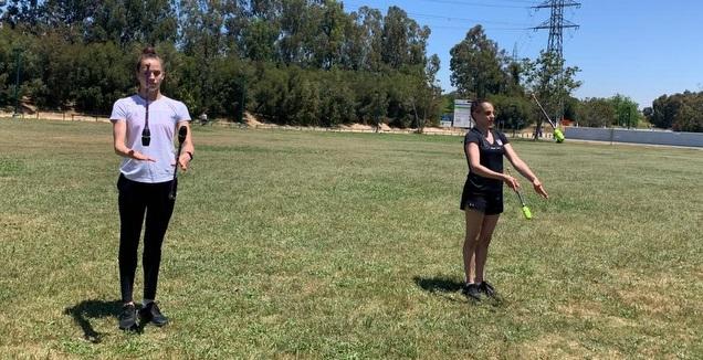 אשרם וזליקמן עברו להתאמן בפארק (מערכת ONE)