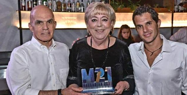 אילן פרנקו משמאל עם מרים פיירברג ורואי הסינג (צילום: תנועת מכבי העולמית)
