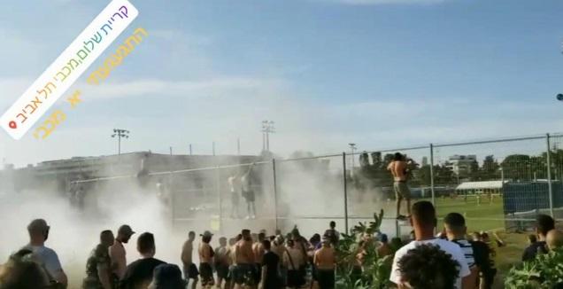 אוהדי מכבי תל אביב במשחק ההכנה (אינסטגרם)