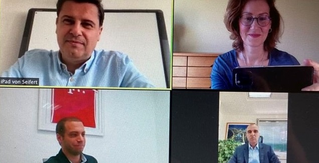 השיחה של ארז כלפון עם ראשי הבונדסליגה (מנהלת הליגות לכדורגל)