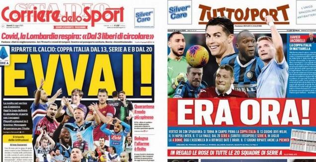 כותרות העיתונים באיטליה (מערכת ONE)