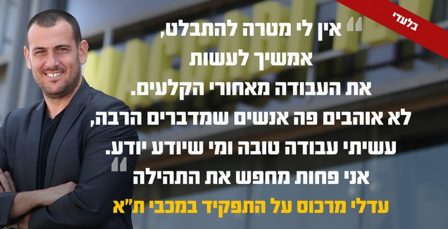 עדלי מרכוס (תמונה: רדאד ג'בארה, גרפיקה: קרולינה אריכמן)