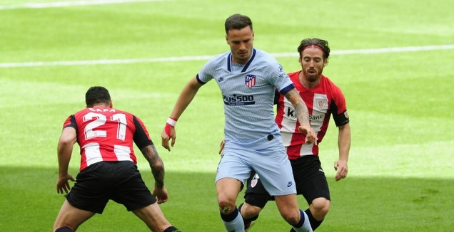 סאול עם הכדור (La Liga)