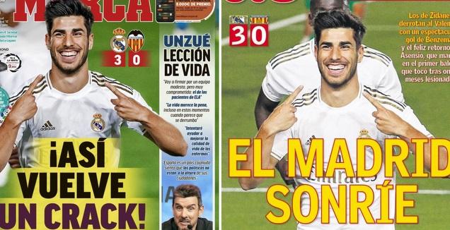 שערי העיתונים בספרד (אס, מארקה)