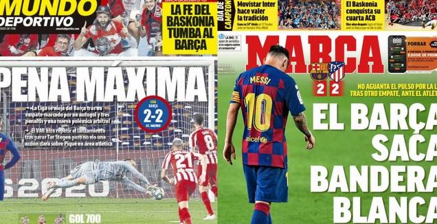 כותרות העיתונים במדריד ובברצלונה (מערכת ONE)