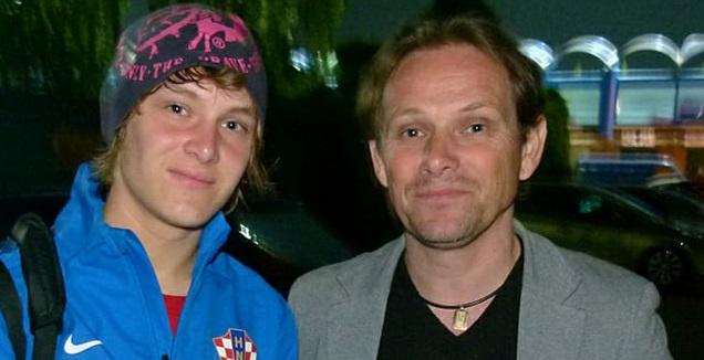 סיאד חלילוביץ' עם בנו אלן (פרטי)