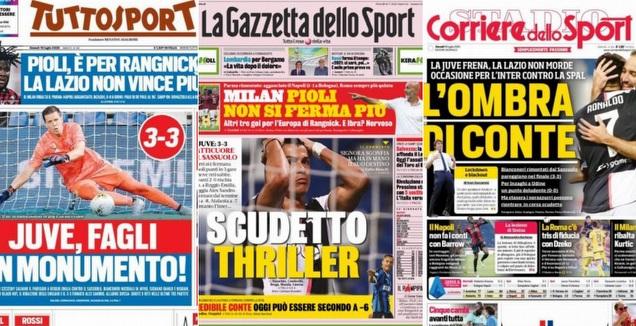 שערי העיתונים באיטליה (צילומי מסך)