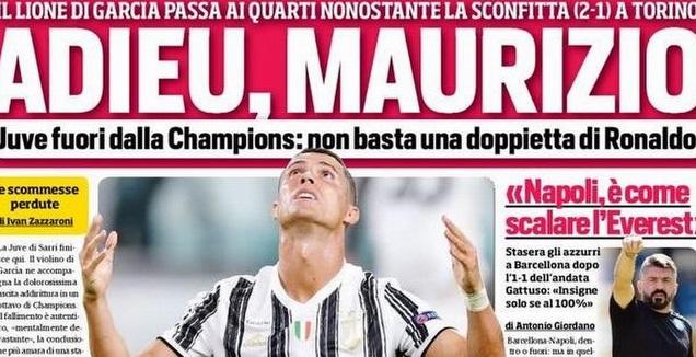 עיתוני איטליה נגד סארי (טוויטר)